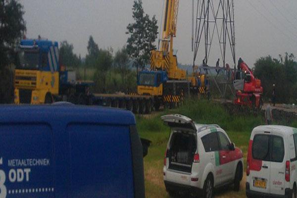 Reparatiewerkzaamheden langs het spoor